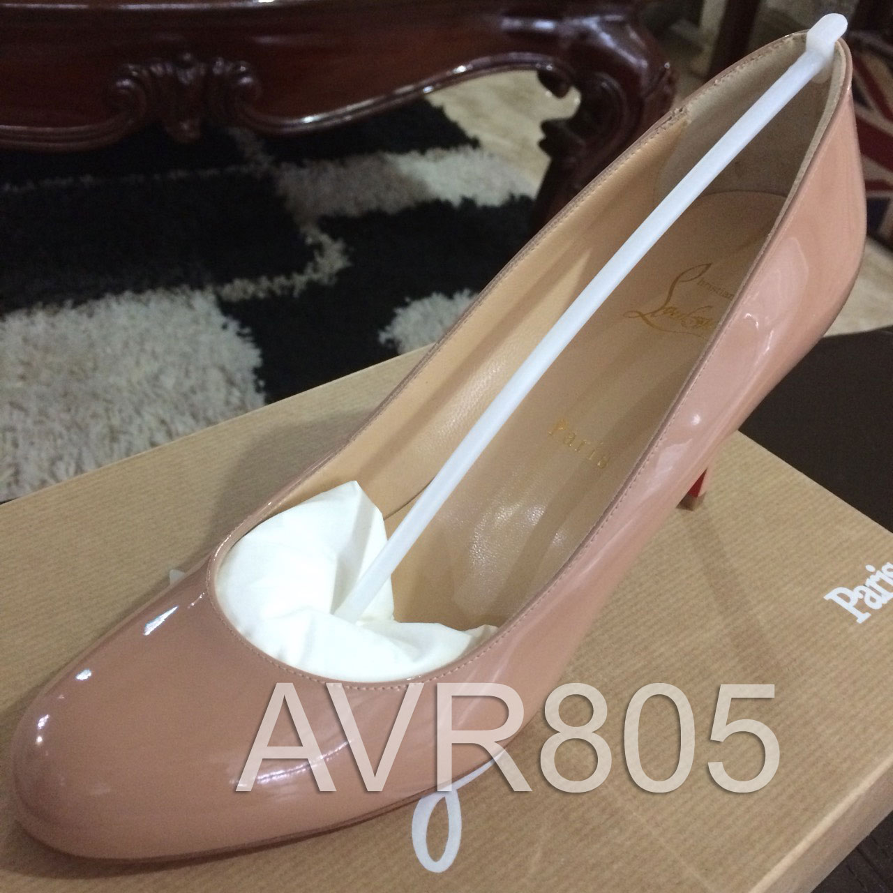 f691d0c1c17e Christian Louboutin Simple Pumps 85mm Nude Patent Euro Size 39 Brand New In  Box
