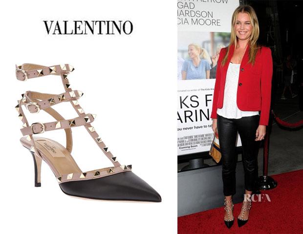 88e8d66120f Valentino Rockstud Ankle Strap Slingback 2.6″ Heel Black Size 36.5 ...