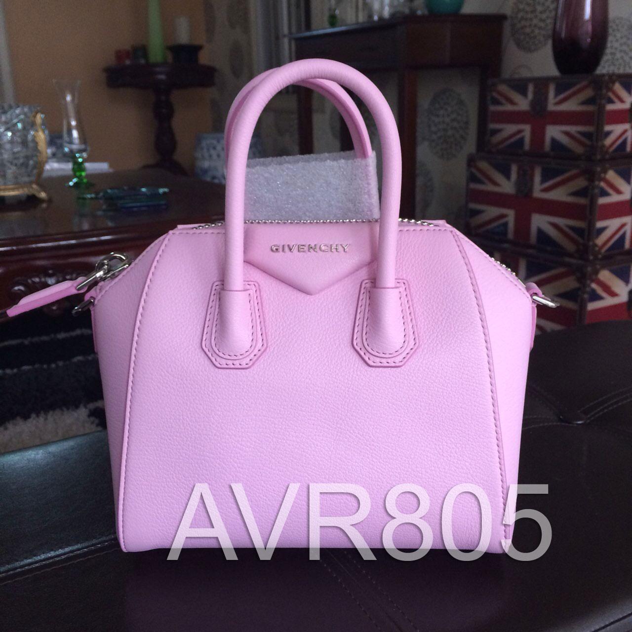 cc1d9ffd31 Givenchy Antigona Mini Bright Pink Satchel Grained Goatskin Leather Brand  New