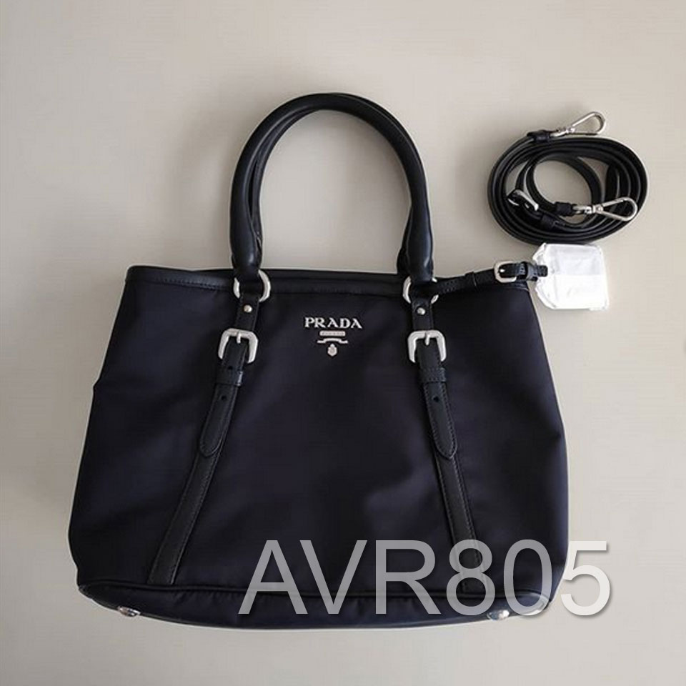 f059c6c7da9c coupon code for prada 1ba841 bleu blue tessuto soft calf top handle  shopping tote brand new